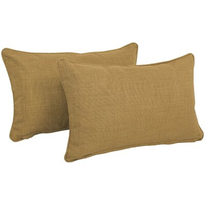 Solid Outdoor Lumbar Pillow Color: Wheat