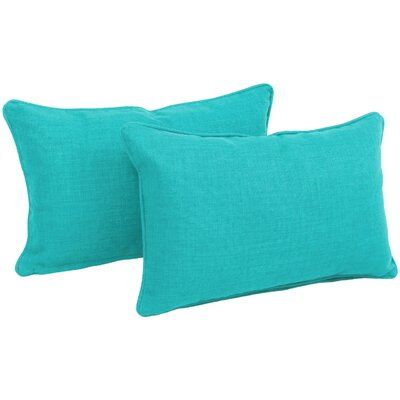 Solid Outdoor Lumbar Pillow Color: Aqua Blue