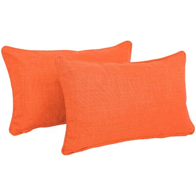 Solid Outdoor Lumbar Pillow Color: Tangerine Dream