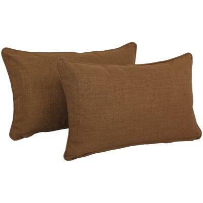 Solid Outdoor Lumbar Pillow Color: Mocha
