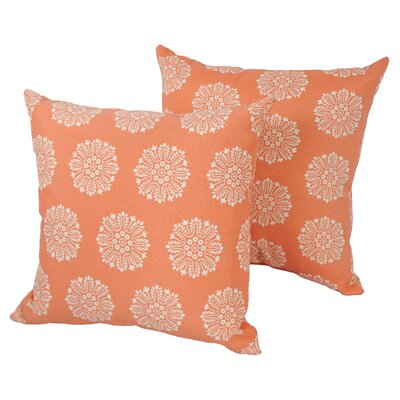 Designer Indoor/Outdoor Throw Pillow Color: Coral