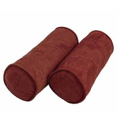 Microsuede Bolster Pillow Color: Red wine