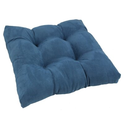19 Micro Suede Dining Chair Cushion Fabric: Indigo