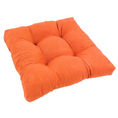 19 Micro Suede Dining Chair Cushion Fabric: Tangerine Dream