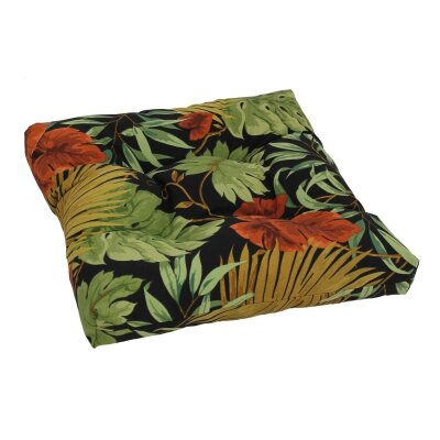 Designer Patio Rocking Chair Cushion Fabric: Tropique Raven