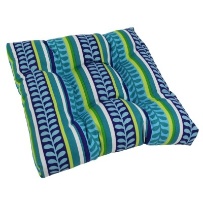 Designer Patio Rocking Chair Cushion Fabric: Pike Azure