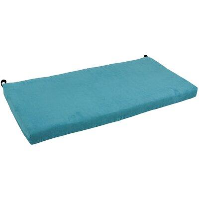 Microsuede Bench Cushion Fabric: Aqua Blue