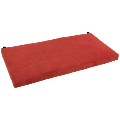 48 W Microsuede Bench Cushion Fabric: Cardinal Red