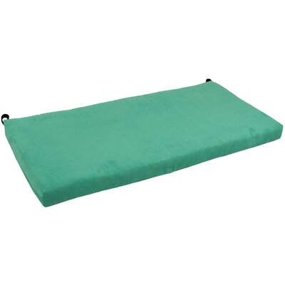 Microsuede Bench Cushion Fabric: Emerald