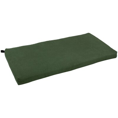 Microsuede Bench Cushion Fabric: Hunter Green