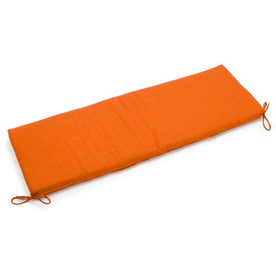 Outdoor Bench Cushion Fabric: Tangerine Dream
