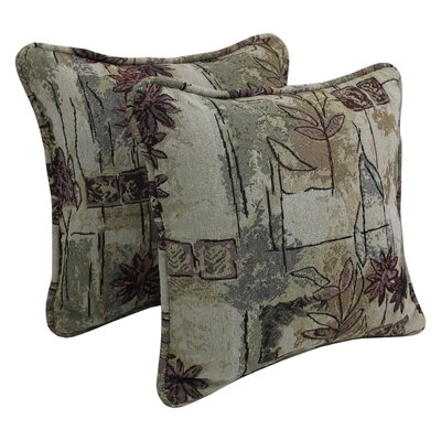Floral Tapestry Throw Pillow Pattern: Japanese Garden