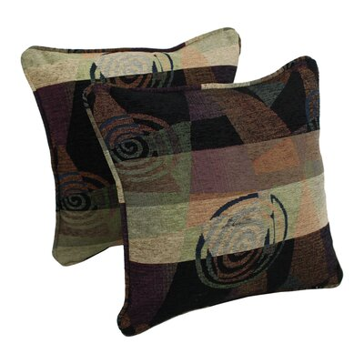 Jaquard Chenille Throw Pillow Color: Signature Contemp