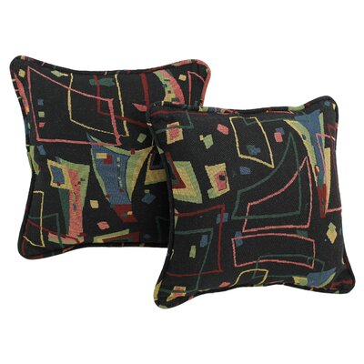 Tapestry Throw Pillow Fabric: Spin CIty