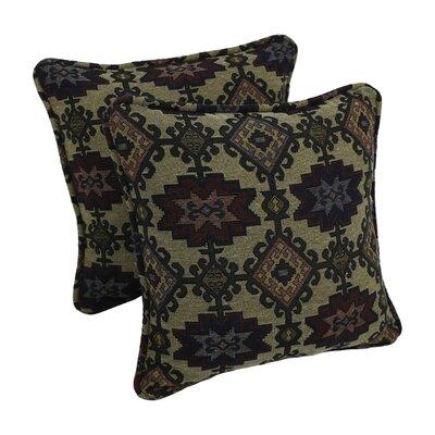 Tapestry Throw Pillow Fabric: Palomino