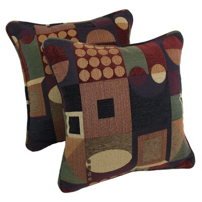 Jaquard Chenille Throw Pillow Color: Signature Square Picasso