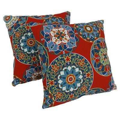 Throw Pillow Color: Cera Pompeii