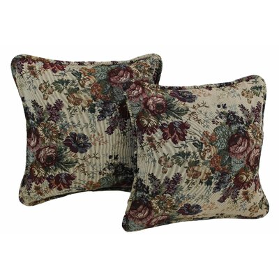 Tapestry Throw Pillow Fabric: Rose Boquet