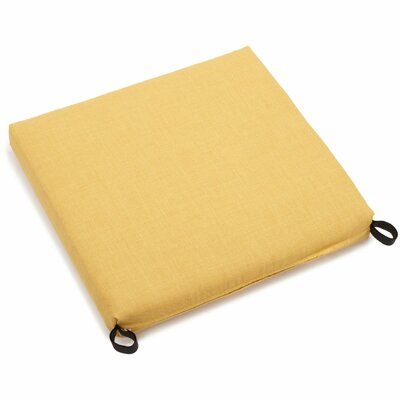 Solid Outdoor Adirondack Chair Cushion Fabric: Lemon