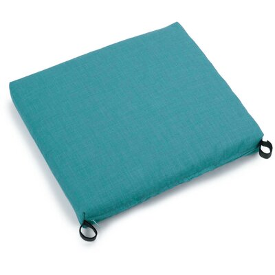 Solid Outdoor Adirondack Chair Cushion Fabric: Aqua Blue