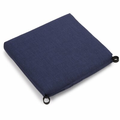 Solid Outdoor Adirondack Chair Cushion Fabric: Azul