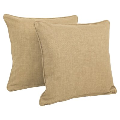 Solid Indoor/Outdoor Throw Pillow Color: Sand Stone