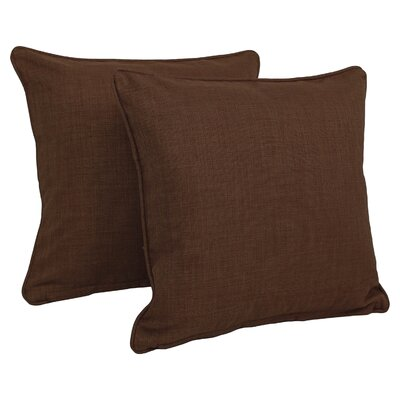 Solid Indoor/Outdoor Throw Pillow Color: Cocoa