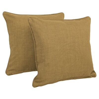 Solid Indoor/Outdoor Throw Pillow Color: Wheat