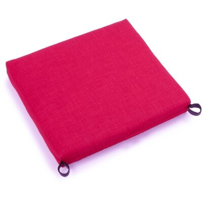 Solid Outdoor Adirondack Chair Cushion Fabric: Berry Berry