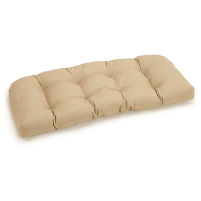 Outdoor Loveseat Cushion Fabric: Sandstone