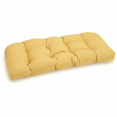 Outdoor Loveseat Cushion Fabric: Lemon