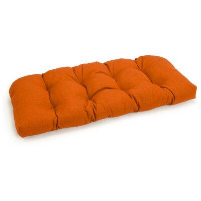 Outdoor Loveseat Cushion Fabric: Tangerine Dream