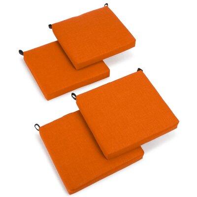 Outdoor Adirondack Chair Cushion Fabric: Tangerine Dream
