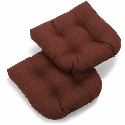 Foam Fill Outdoor Adirondack Chair Cushion Fabric: Cocoa