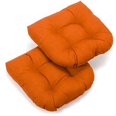 Foam Fill Outdoor Adirondack Chair Cushion Fabric: Tangerine Dream