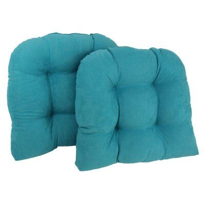 Foam Fill Outdoor Adirondack Chair Cushion Fabric: Aqua Blue
