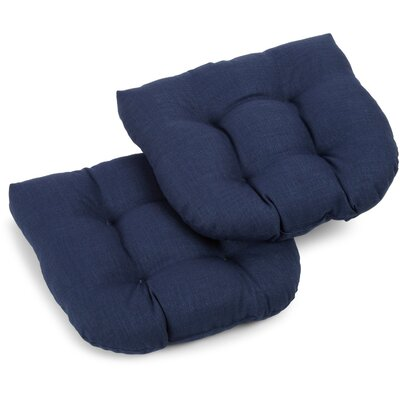 Foam Fill Outdoor Adirondack Chair Cushion Fabric: Azul