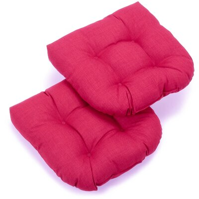 Foam Fill Outdoor Adirondack Chair Cushion Fabric: Berry Berry