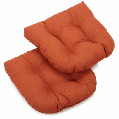 Foam Fill Outdoor Adirondack Chair Cushion Fabric: Cinnamon