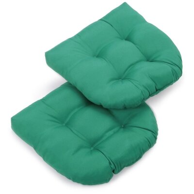 Foam Fill Outdoor Adirondack Chair Cushion Fabric: Emerald