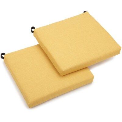 Outdoor Chair Cushion Fabric: Lemon
