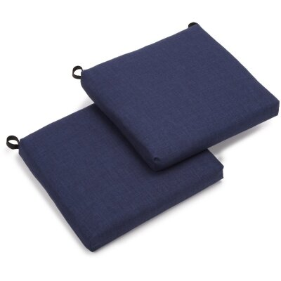 Outdoor Chair Cushion Fabric: Azul