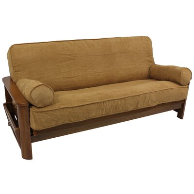 3 Piece Futon Slipcover Set Fabric: Saddle Brown