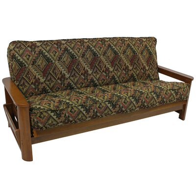 Premium San Carlos Tapestry Box Cushion Futon Slipcover Size: 9 and 10