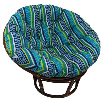 Outdoor Papasan Cushion Fabric: Freeport Ebony
