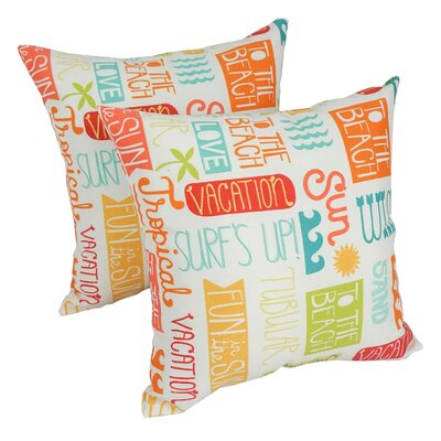 Gilroy Summer Fun Outdoor Throw Pillow Set Of: Set of 2
