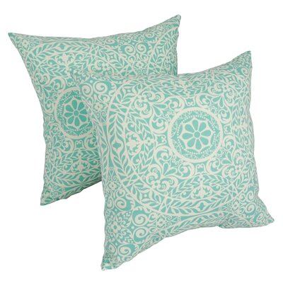 Plust Aqua Indoor/Outdoor Throw Pillow