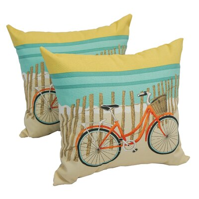 Farrell Bicycle Sunrise Indoor/Outdoor Throw Pillow