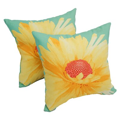 Petry Daisy Indoor/Outdoor Throw Pillow