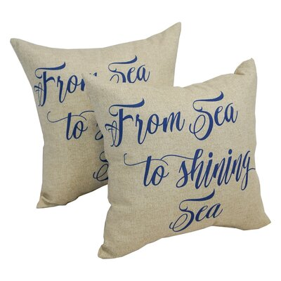 Bazin America Shining Sea Indoor/Outdoor Throw Pillow